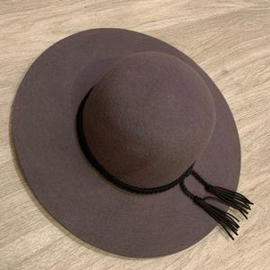 Accessories - Woman's felt floppy hat grey with detail